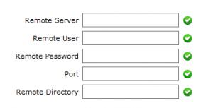 remote ftp server backup
